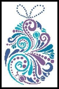 Abstract Easter Egg 1 by Artecy printed cross stitch chart